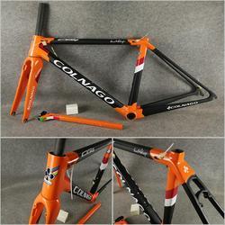 Pomarańczowy czarny T1100 UD matowy błyszczący Colnago C64 rama rowerowa rama rowerowa z 48/50/52/54/56cm 12 kolorów do wyboru