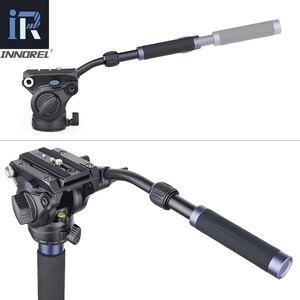 Image 3 - VM70K מקצועי וידאו חדרגל ערכת Unipod עם נוזל ראש נסיעות חצובה Stand עבור DSLR מצלמה טלסקופים מצלמות וידאו Gopro