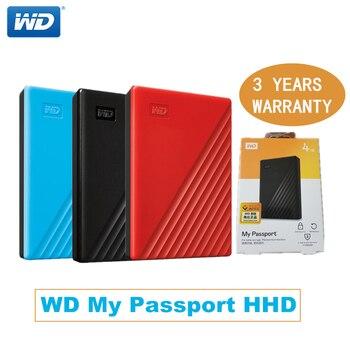 Портативный жесткий диск Western Digital WD My Passport hdd 2,5 USB3.0 SATA, внешний жесткий диск 1 ТБ, 4 ТБ, 5 ТБ