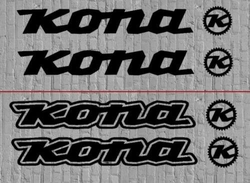 Комплект из 2 предметов одежды Kona наклейки на велосипед Стикеры комплект MTB DH для Fox Car для укладки волос