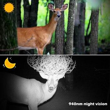 Trail Camera 940nm De Cca уличная Водонепроницаемая IP56 1080p камера дикой природы ночное видение фото ловушки охотничья камера