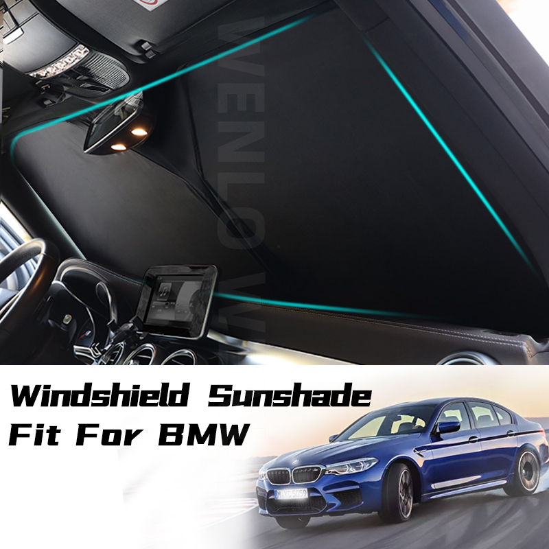 Car Sunshade Sun shade Front Window Film Windshield Visor Cover UV Protect For BMW 1 2 3 5 Series F10 F18 F20 F30 E60 E90 G28 image