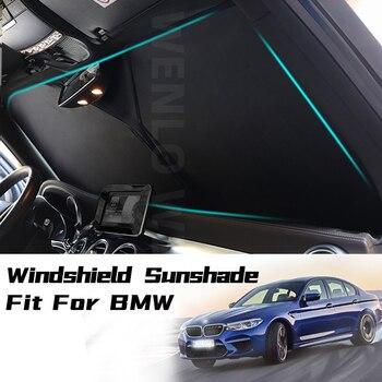 цена на Car Sunshade Sun shade Front Window Film Windshield Visor Cover UV Protect For BMW 1 2 3 5 Series F10 F18 F20 F30 E60 E90 G28