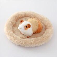 Coxim quente de veludo do animal de estimação da almofada do ninho do hamster chinchila do ouriço do coelho para o roedor/cobaia/rato/ouriço 5 cores s/l suprimentos do animal de estimação