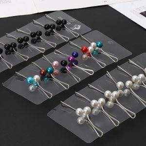 Image 4 - 12 pièces/ensemble musulman Hijab perle Clip broche broches écharpe sécurité Clip femmes broche