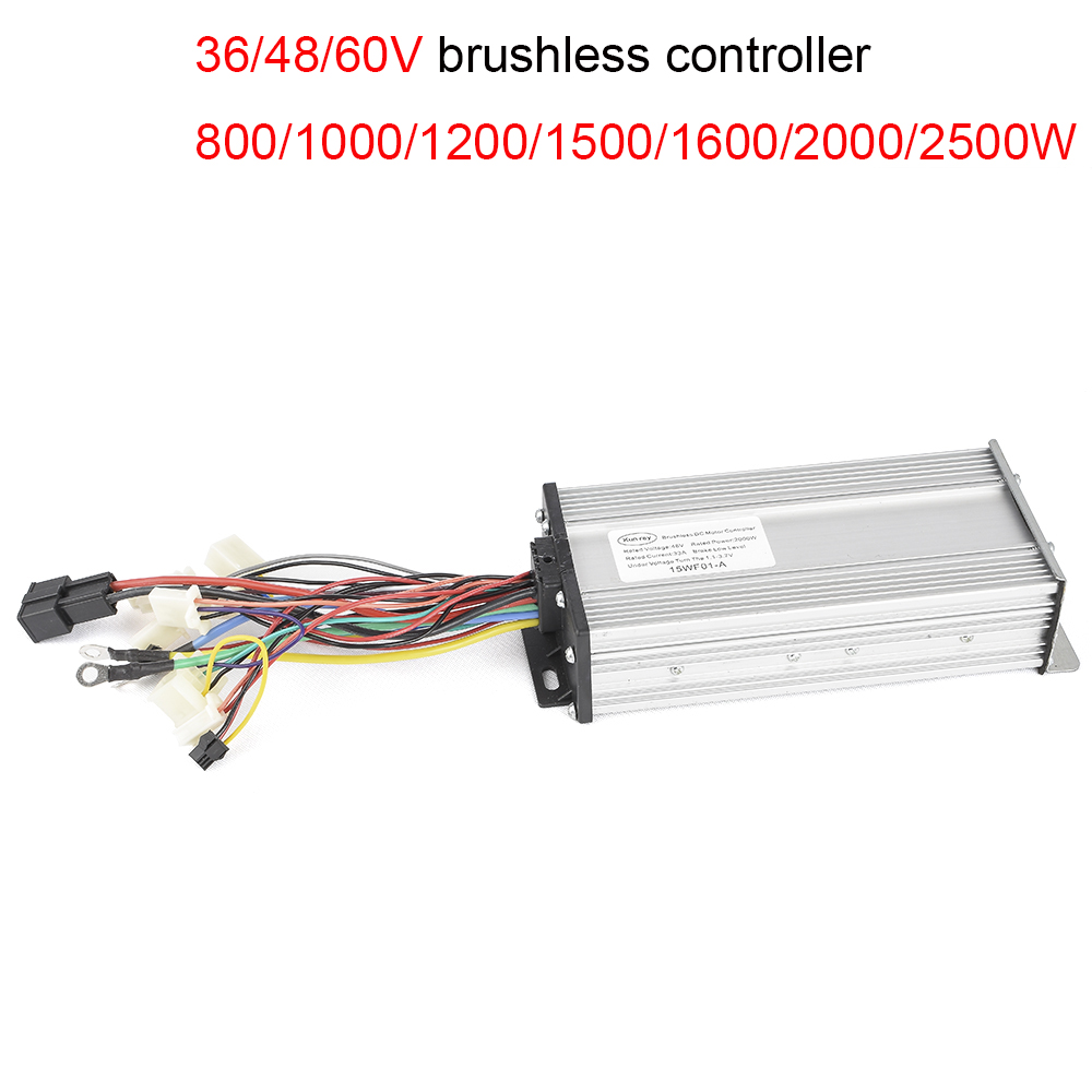 1500W Electric 48V 2000W/2500W Brushless Controller,Brushless Motor 33A/41A 15/18 Mosfet Reverse Function For E-Scooter 800W