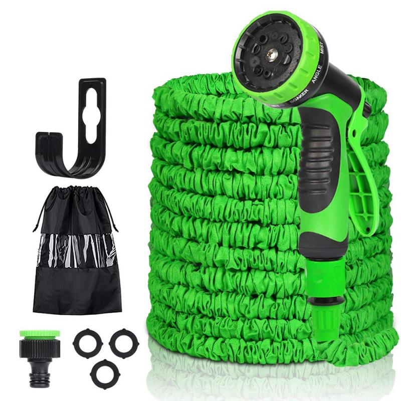 50FT-150FT Garten Schlauch Erweiterbar Magie Flexible Wasser Schlauch EU Schlauch Kunststoff Schläuche Rohr Mit Spritzpistole Zu Bewässerung Auto Waschen spray
