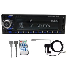1Din DAB + Receiver Mobil Radio MP3 Stereo Auto Radio Mendukung AM FM RDS Bluetooth USB SD AUX dengan DAB Antena(China)