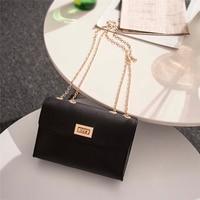 Mode britannique Simple petit sac carré sac à main de concepteur de femmes 2019 haute qualité PU cuir chaîne Mobile téléphone sacs à bandoulière