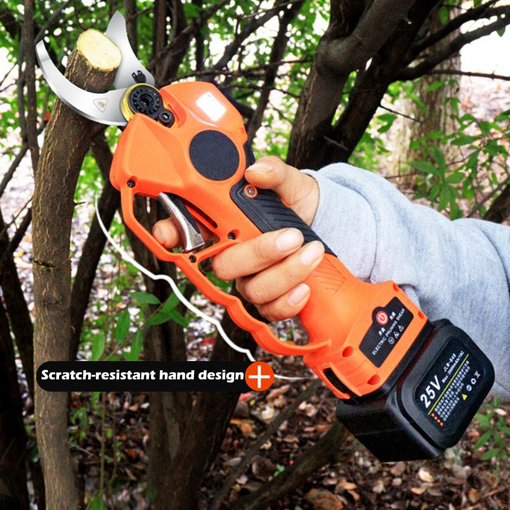 25V 40mm Cordless Pruner Electric Pruning Shear Lithium-ion Battery Efficient Fruit Tree Bonsai Pruning Branches Cutter