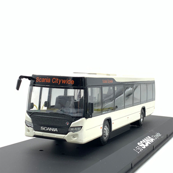 1/50 Scale Alloy Toy Bus Model Metal Die casting Toy Car Scania Bus 25cm Static Model Miniature Collection Gift free shipping