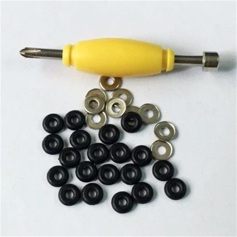 20PCS Rubber Bushings & Nickel Washer Accessaries For Fingerboard Skateboard Toys
