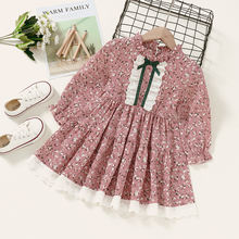 Micol emilly/детское осеннее платье с длинными рукавами и цветочным