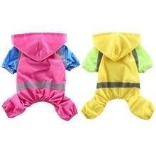 Pet Dog Raincoat Waterproof Rain Coat With Hood 4-legs Climbing Rainy Day Rainwear For Small Medium Dogs Supplies