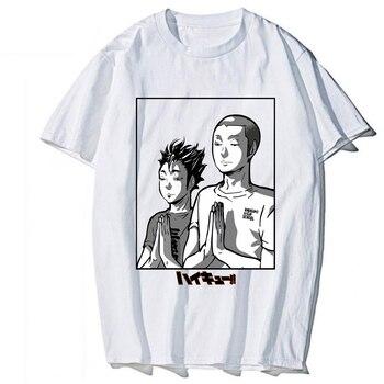 Anime haikyuu Manga T Shirt funny Cartoon Nice Loose T-shirt Men Tee Shirt 2