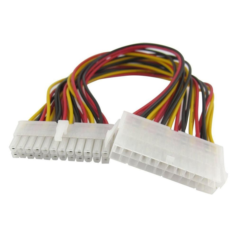30CM ATX 24 Pin Male to <font><b>24Pin</b></font> Female Power Supply <font><b>Extension</b></font> <font><b>Cable</b></font> Internal PC PSU TW Power Lead Connector Wire image
