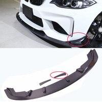 3-D Style Carbon fiber Front Lip Spoiler Side Splitter 3pcs Fit For BMW F87 M2