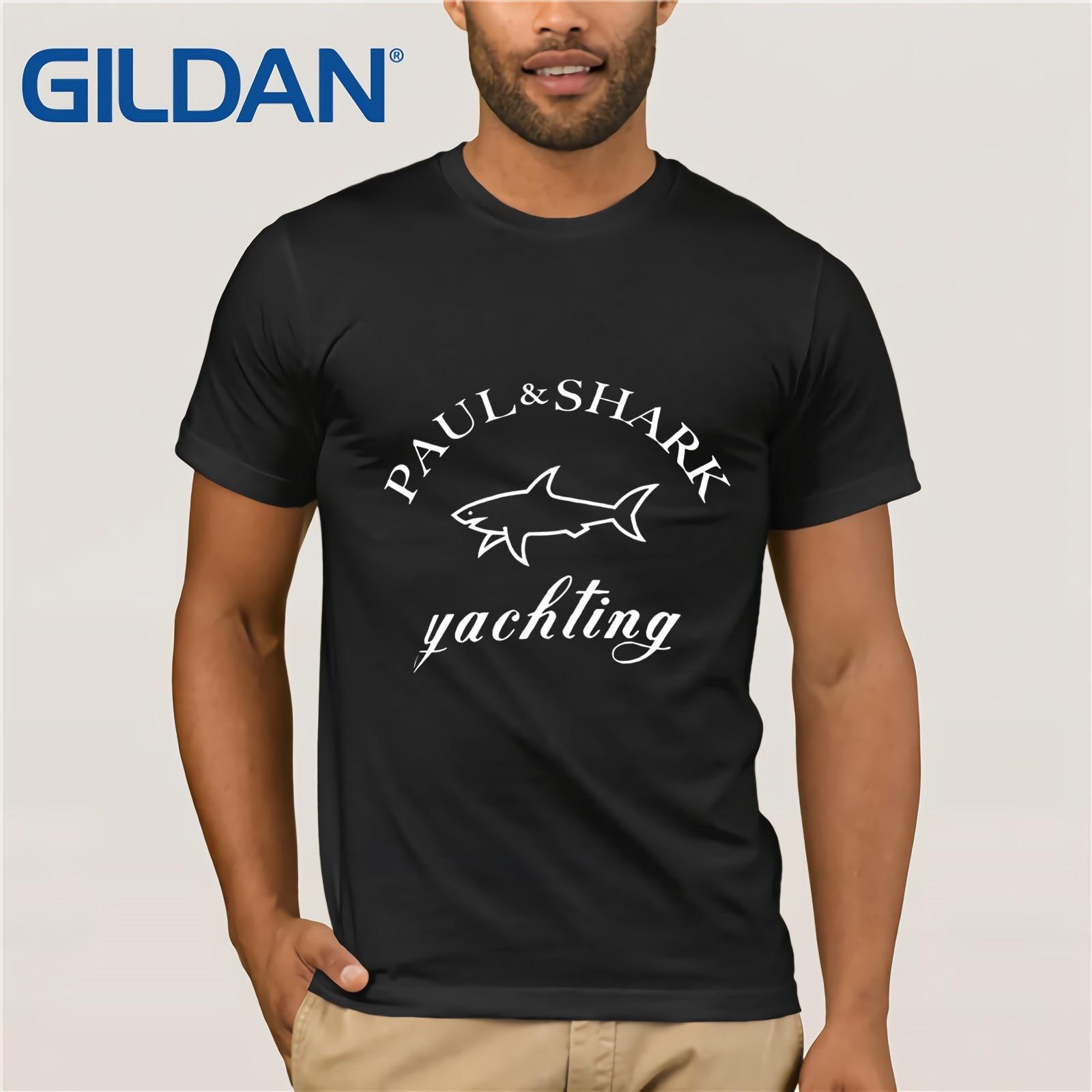 Paul & Shark Yaching T-shirt Herre T-Shirt Champiom T-Shirt Winner Tee Men Brand Clothing Classic Style T-shirt