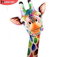 HUACAN 5D Diamond Painting Giraffe Animal Full Square Drill Home Decor