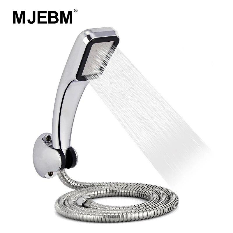 300-hole wysokociśnieniowy zestaw prysznicowy ABS z uchwytem i oszczędzającym wodę prysznicem ze wspornikiem i wężem zestaw prysznicowy