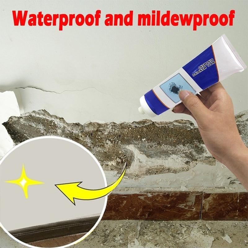 2020 Magic White Latex Paint Wall Repair Cream Household Hole Disappear Waterproof Wall Crack Hole Repair Cream Wall Repair Tool