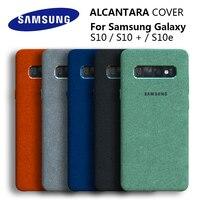 100% Оригинальный чехол для samsung S10 для Galaxy S10Plus S10 + S10E Alcantara, кожаный Премиум чехол, полная защита, 5 цветов