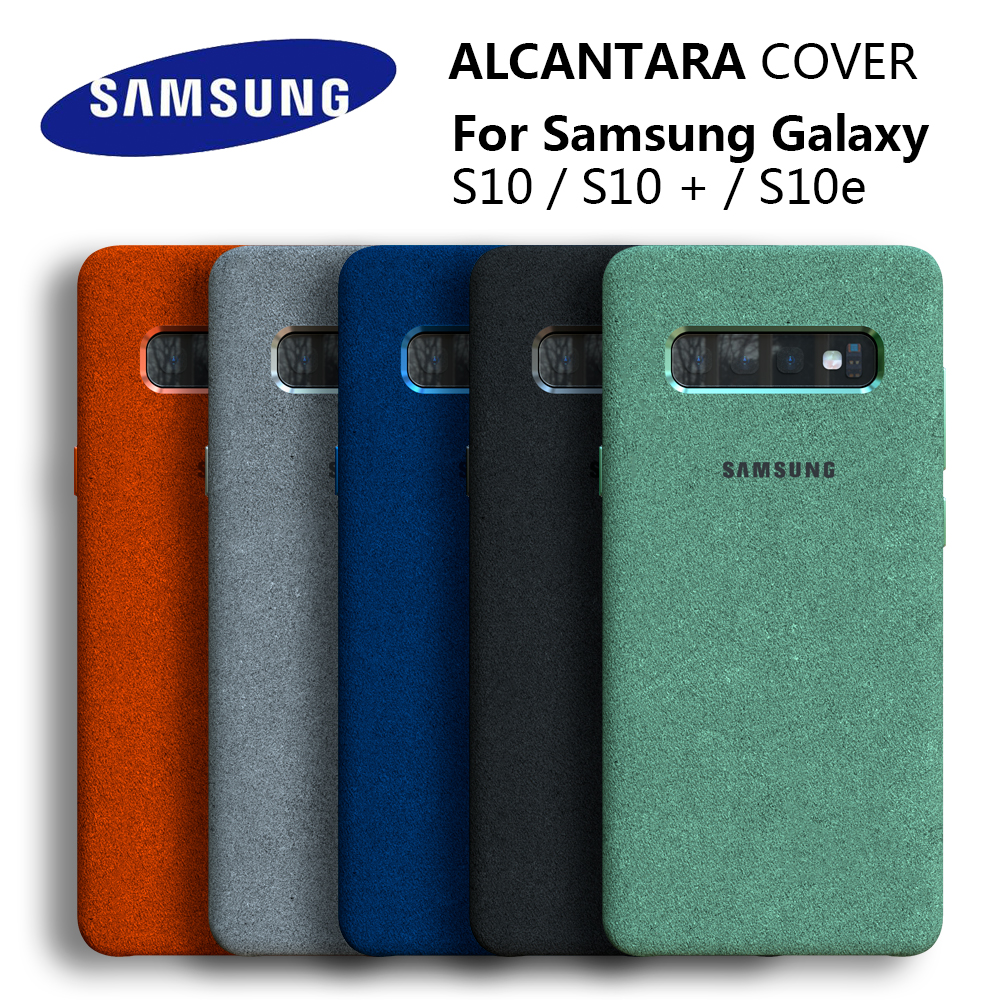 100% Original GENUINE Samsung <font><b>S10</b></font> Case For <font><b>Galaxy</b></font> S10Plus <font><b>S10</b></font> + S10E Alcantara Cover Leather Premium Full Protect Cover 5 color image