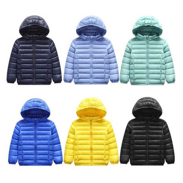 Dzieci Down & Parkas 2 T-14 T zimowa dziecięca odzież wierzchnia chłopcy dorywczo ciepła kurtka z kapturem dla chłopców jednakowi chłopcy ciepłe kurtki