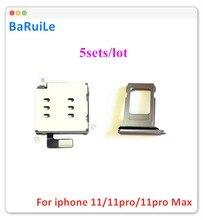 BaRuiLe 5 комплектов, адаптер для считывания двух Sim-карт + держатель лотка с двумя Sim-картами для iPhone 11, запасные части
