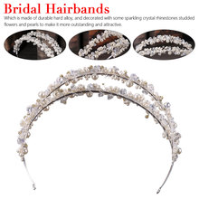 Silver Crystal Headband Hair Accessory Hair Hoop Simple Rhinestone Double Layer Head Hoops Accessories Jewelry Gift