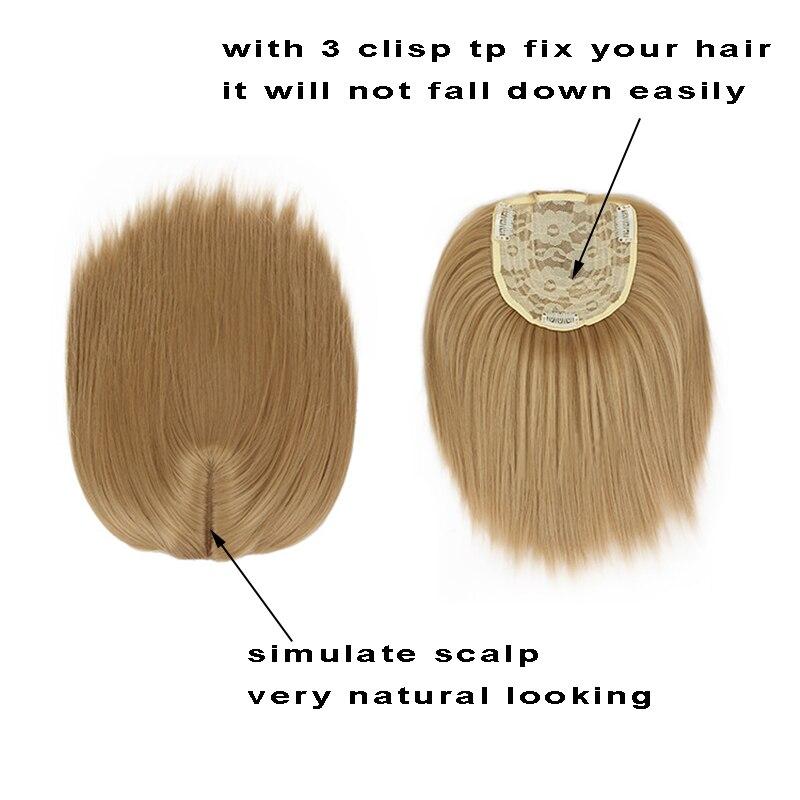 Gres grampo reto ins topper cabelo curto