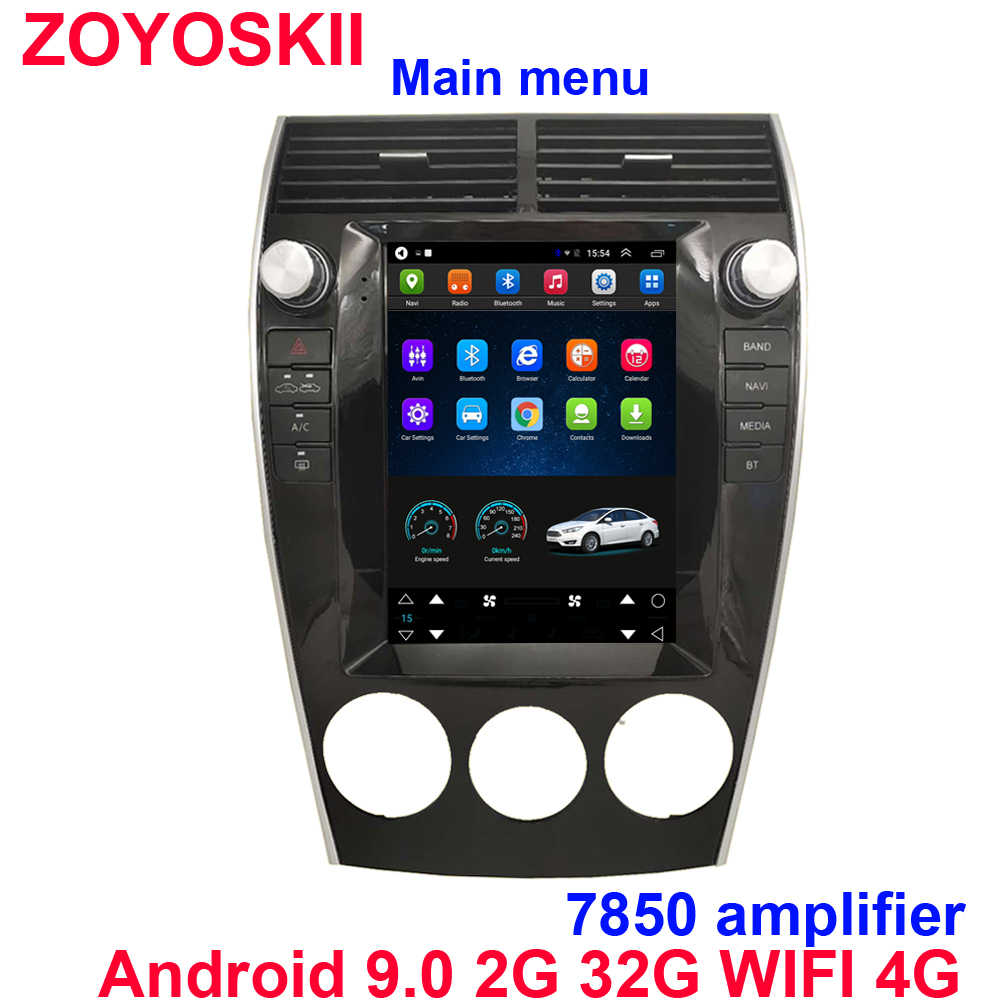 Android 9.0 Os 10.4 Inch Vertical Tesla Style CAR Radio GPS Bluetooth Navigation Player For For Mazda 6 2005-2015