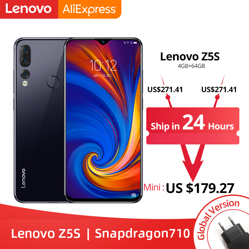 Global Version Lenovo Z5s Snapdragon 710 Octa Core 4GB 64GB Smartphone Face ID 6 3inch Android
