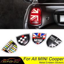 Union Jack Carro De Metal Do Emblema Do Emblema Adesivos Decalques Para Mini Cooper Clubman Compatriota F54 F55 F56 R55 R56 R60 F60 acessórios do carro