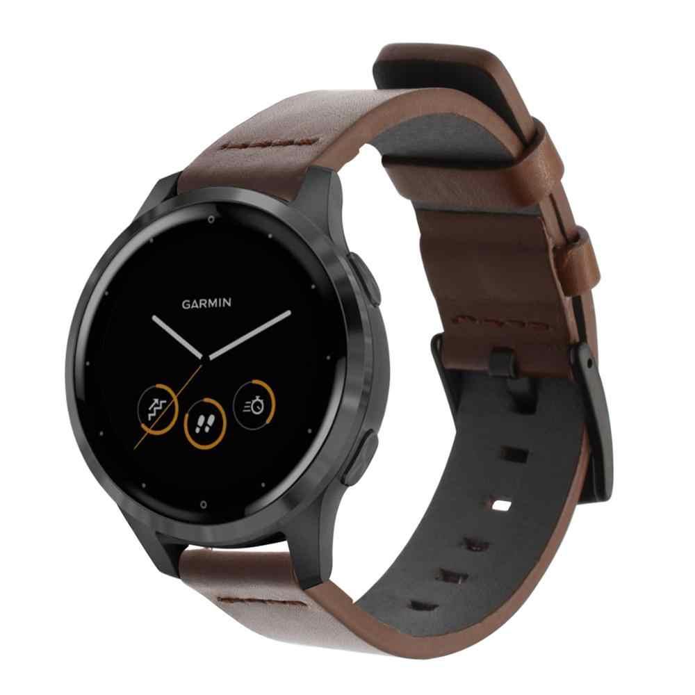 Italia Berminyak Kulit Watchband untuk Garmin Vivoactive 4 4 S/Vivomove 3 3S Hr/Venu Luxe Gaya rilis Cepat Strap Watch Band