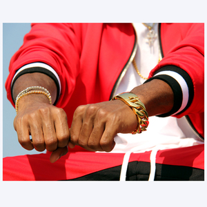 Image 5 - 31MM Wide Shiny Cuba Big Bracelet Men Cool Punk Stainless Steel Jewelry Fashion Mens Bracelets & Bangles Hand Thick Chain