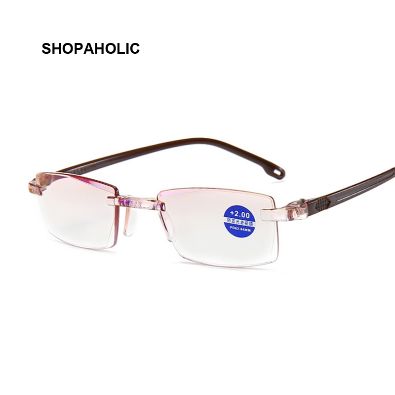Metal Frame Men Reading Glasses Non Spherical 12 Layer Coated Lenses Vintage Business Hyperopia Prescription Eyewear