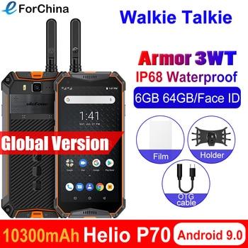 Перейти на Алиэкспресс и купить Ulefone armor 3WT портативная рация Прочный Android 9,0 мобильные телефоны 5,7 дюймHelio P70 6G + 64G Face ID NFC Global 4G смартфон 10300mAh