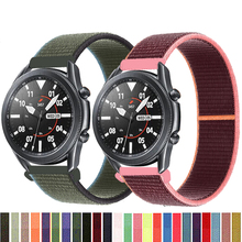 20 22mm watch band For Gear s3 Frontier strap Galaxy watch 3 45mm 41mm 46 active 2 44mm 40mm Nylon huawei watch gt2e/2 strap 42