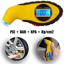 Цифровой манометр+ экран OcioDual светильник светодиодный измеритель давления колеса ЖК-дисплей автомобильная шина давление подсветка для колес бар PSI кПа
