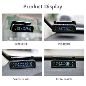 Image 3 - Jansite Tpms Originele Draadloze Hd Solar Auto Bandenspanning Alarm Monitor Systeem Display Turn Op Met De Trillingen Met 4 sensoren