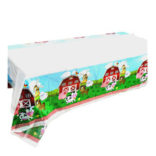 Table-Cloth Birthday-Party-Decoration Animals Party-Supplies Pig-Cow-Sheep-Theme Disposable