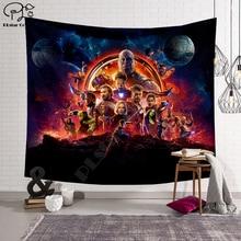 цена Black panther/The Avengers/Thanos Blanket Tapestry 3D Printing Tapestrying  Rectangular Home Decor Wall Hanging New style 4 онлайн в 2017 году