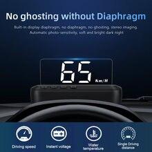C100 hud espelho do carro cabeça up display brisa velocidade projetor alarme de segurança temperatura da água overspeed rpm tensão condução computador