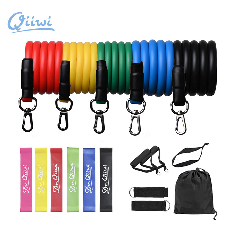 Dr.Qiiwi Resistance Bands Set Training Home Gym Workout Pull Rope Rubber Elastic Loop Tube Band for Yoga Fitness Equipment