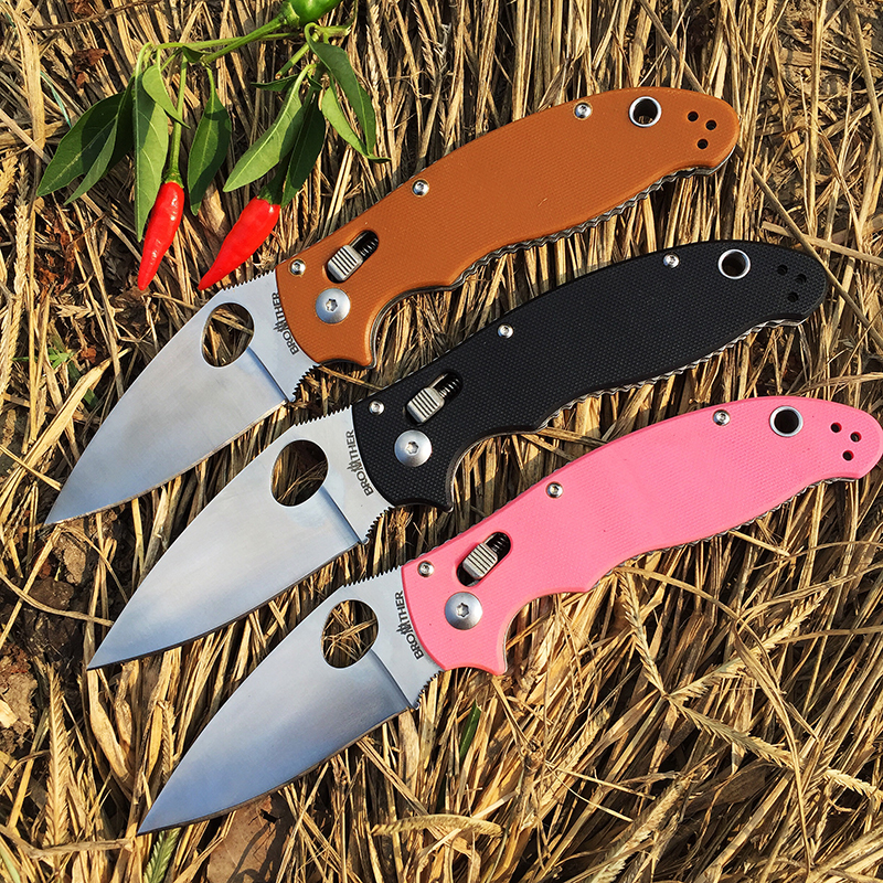 58 Tool Knife Edc 1603 440C Brother 60HRC Outdoor Knife Camping Pocket Tactical Survival Edc Folding Tool Outdoor Blade