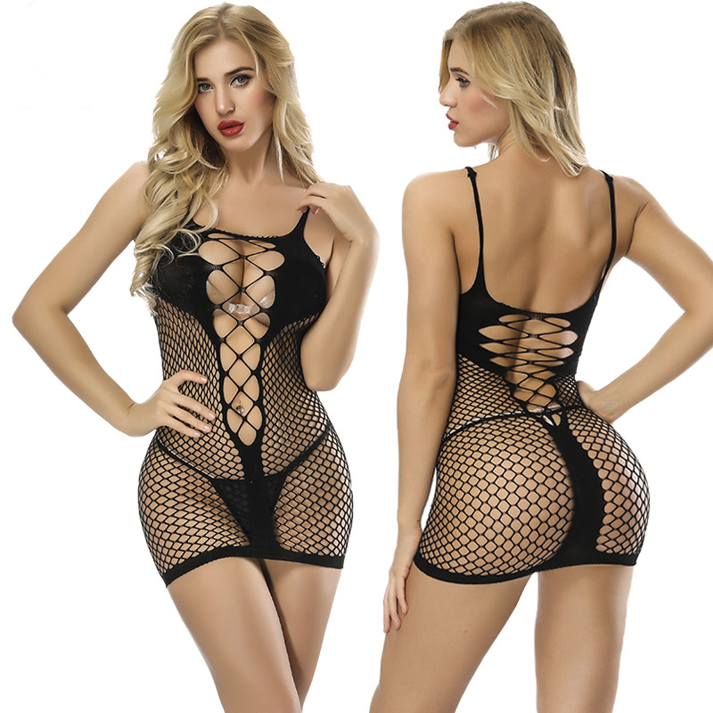 Women Sexy Lingerie Hot Porno 2019 New Babydoll Erotic Lingerie Sexy Costumes Fishnet Bodysuit Teddies Sexy Underwear/catsuit