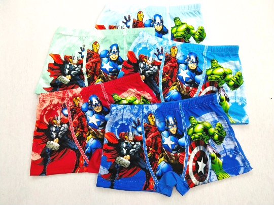 4pcs/lot New Boys Panties Kids Cartoon Hero Briefs Children Underwears Infant Boxer Briefs Teenagers Panty Underwears For 2-8Y