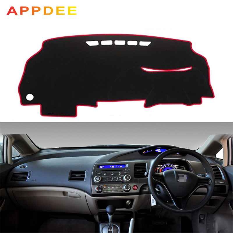 APPDE Car Dashboard Cover Dash Mat Dash Board Pad Carpet Dashmat Anti-UV For Honda Civic Acura CSX 2006 2007 2008 2009 2010 2011