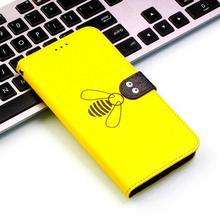 Bee Flip Leather Phone Case For Samsung Galaxy Note10 Pro Wallet Card Holder Slot Back Cover Coque Fundas Capa